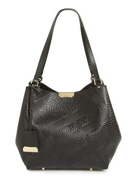 small-canterbury---grain-check-leather-tote by burberry