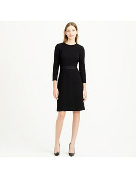 petite-double-faced-wool-crepe-dress by jcrew