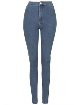 tall-moto-dusk-blue-joni-jeans by topshop