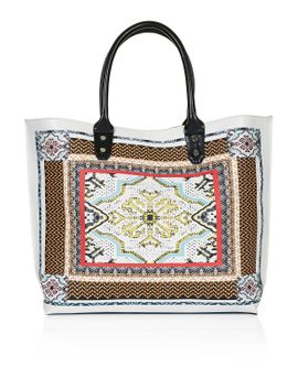scarf-print-tote-bag by topshop