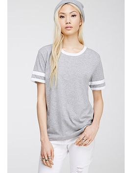 varsity-striped-heathered-tee by forever-21