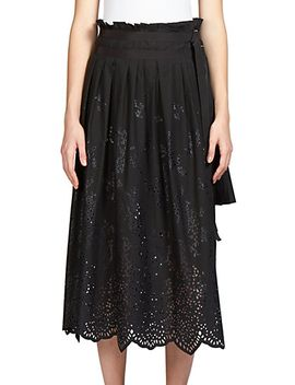layered-laser-cut-eyelet-skirt by sacai