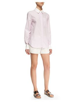 long-sleeve-layered-hem-shirt-&-perforated_floral-pattern-boxing-shorts by derek-lam-10-crosby