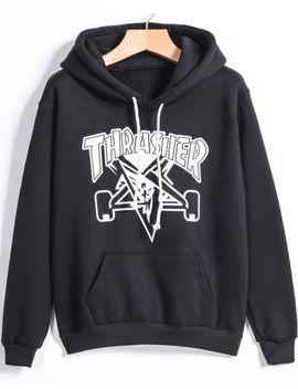 black-hooded-drawstring-letter-print-sweatshirt by romwe