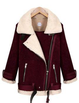 oblique-zipper-lapel-wine-red-coat by romwe