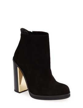 haunt-metal-plate-ankle-bootie by topshop