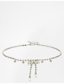 asos-bow-jewel-choker-necklace by asos-collection