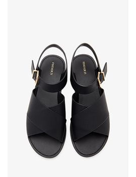 faux-leather-ankle-strap-sandals by forever-21
