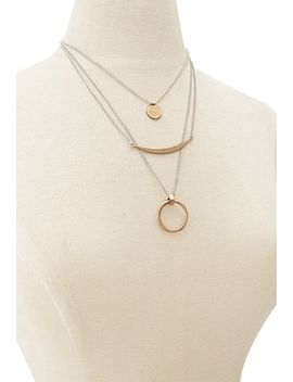 layered-geo-charm-necklace by forever-21