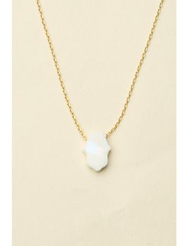 white-opal-stone-hamsa-hand-necklace by brandy-melville