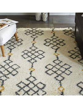 fes-wool-shag-rug---ivory-_-slate by west-elm