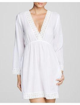 lace-trim-crushed-cotton-chelsea-tunic-swim-cover-up-dress by lauren-ralph-lauren