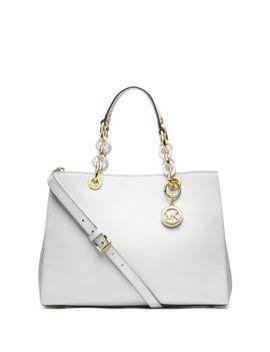 cynthia-medium-leather-satchel by michael-kors