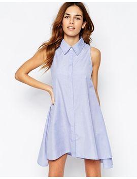 glamorous-chambray-swing-shirt-dress by glamorous