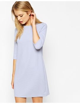 asos-shift-dress-in-jumbo-rib-with-3_4-sleeves by asos