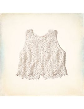 solana-beach-lace-crop-top by hollister