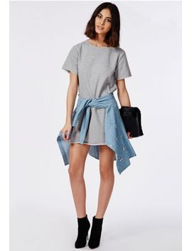 oversized-brushback-sweater-dress-grey by missguided