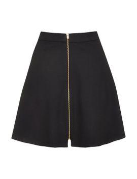 zip-through-a-line-skirt by topshop