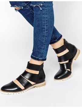 asos-alternatively-cut-out-leather-ankle-boots by asos-collection