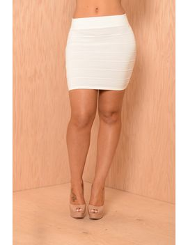 mint-condition-skirt---ivory by fashion-nova