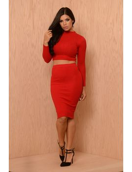 alexis-skirt---red by fashion-nova