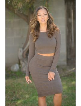 esther-skirt---brown by fashion-nova
