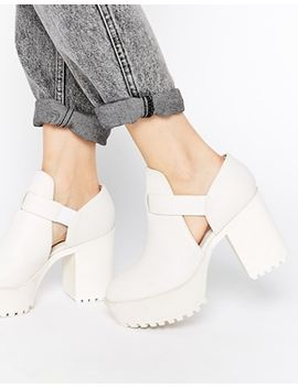 monki-cerise-white-cut-out-shoe-boots by monki