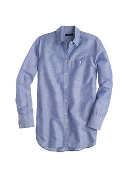 long-cotton-linen-boy-shirt-in-crosshatch by jcrew