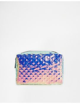 asos-textured-hologram-makeup-bag by asos-collection