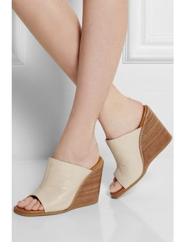 anna-textured-leather-wedge-mules by see-by-chloé