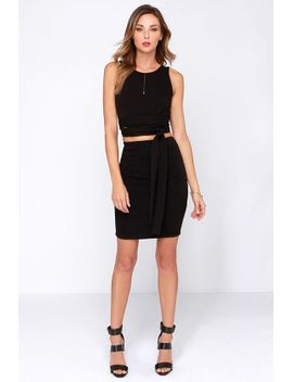daily-dos-black-two-piece-dress by lulus