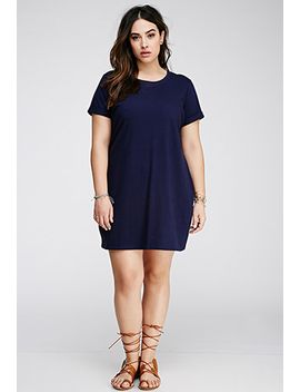 cuffed-sleeve-t-shirt-dress by forever-21