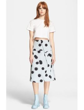 blurred-dot-midi-skirt by marc-by-marc-jacobs
