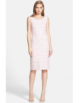 micro-tweed-knit-sheath-dress by st-john-collection