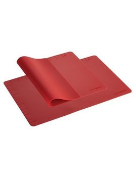 new-cake-boss-countertop-accessories-2-piece-silicone-baking-mat-set--red by ebay-seller