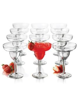 new-libbey-12-piece-margarita-party-set-glass-glassware---free-ship by ebay-seller