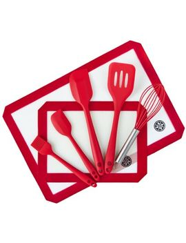 starpack-premium-silicone-baking-mat-and-baking-kitchen-utensils-set-(7-piece),-bonus-101-cooking-tips by starpack-home
