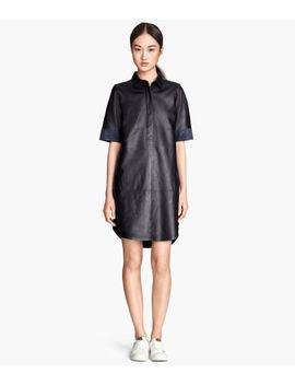 leather-shirt-dress by h&m
