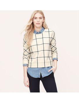 petite-windowpane-sweatshirt by loft