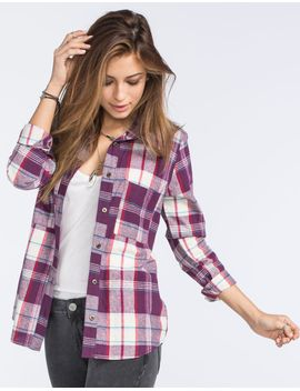 full-tilt-johnny-womens-boyfriend-flannel-shirt by tillys