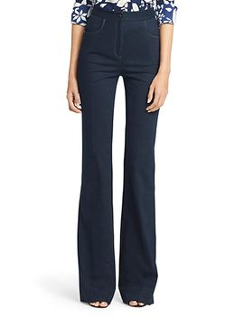 dvf-debbie-high-waisted-denim-pant by dvf