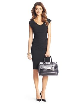 bevin-ceramic-ruched-sheath-dress by dvf