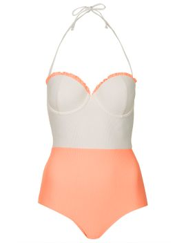 box-pleated-swimsuit by topshop