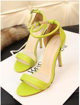 belt-sandals-size-sexygirl-neon-color-green-white-open-toe-heels-womens-thin-high-heeled-shoes-3341 by ali-express