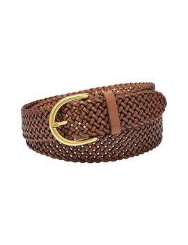 woven-leather-belt by fossil