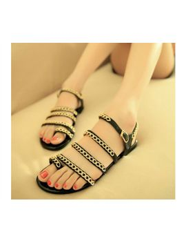 handsome-metal-chain-new-fashion-european-style-casual-women-flats-shoes-sandals-female-with-flat-sandals-single-flat-shoes by ali-express