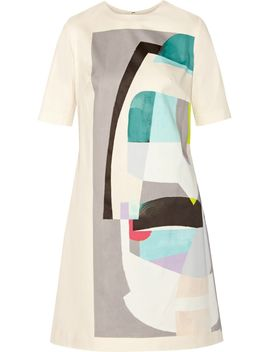 the-outnetprinted-cotton-blend-dress by lela-rose