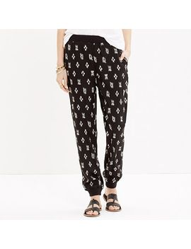 pull-on-track-pants-in-black-ikat by madewell