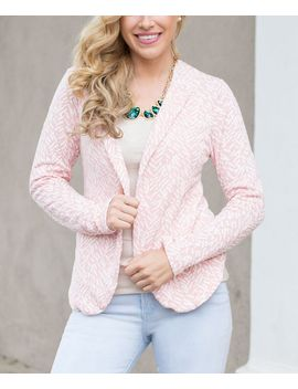 light-pink-textured-blazer by pinkblush