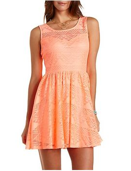 geometric-lace-skater-dress by charlotte-russe